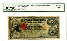 Dominican Rep ... P-S133 ... 5 Pesos ... ND(1889) ... *VF*