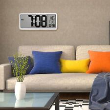 14'' Digital Wall Clock w/ Jumbo LCD Display and Indoor Temperature