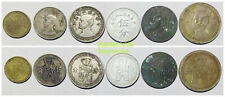 Rare+ Republic China Taiwan Spade Set 6 Diff coins 1 5 10 20 cents fen 1940-1942