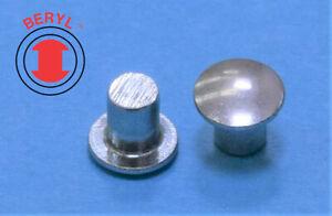 """Steel Zinc Oval Head Solid Rivets - 1/8""""X3/16"""" OHSR180316 - 100pcs"""