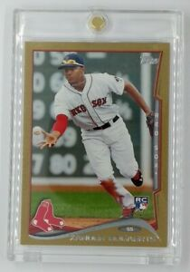 2014 14 Topps Gold Xander Bogaerts Rookie RC #133, Boston Red Sox, #'d/2014