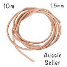 10m Genuine tan Leather cord 1.5mm DIY necklace keyring necklace craft cowhide