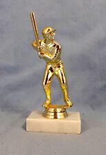 Baseball Player At Bat Trophy On Marble Base Award