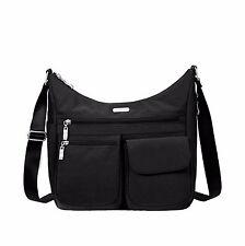 New Baggallini EVERYWHERE  bag crossbody purse BLACK Pockets Lightweight gift
