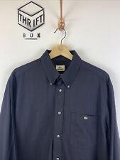 LACOSTE, Mens Size L (42), Black, Small Logo, LS Reg Fit Shirt,*VGC*