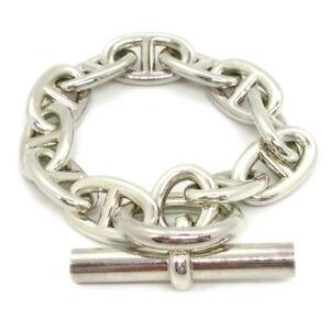 Hermes Chaine D'Ancre Tgm Argent 925 Breloque Bracelet Argent 18G051843 36549