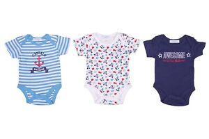 Baby Babyset Strampler Jungen Einteiler 3-er Bodyset Babyset NEU Größe 50/56