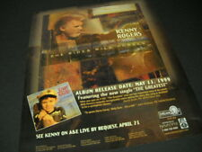 Kenny Rogers says She Rides Wild Horses 1999 Promo Poster Ad mint condition