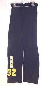 New Women's XS SOFFE University of Michigan Roll Up Blue Gym Sweat Lounge Pants