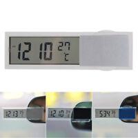 Auto 2 in 1 Digital Uhr mit Thermometer LCD Anzeige für Innengebrauch KFZ Auto