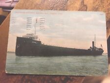 Freighter Entering  Maumee Bay  Toledo, Ohio Postcard  Posted 1915