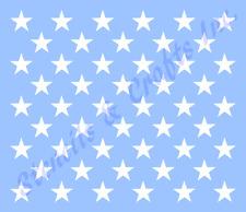 "1.50"" STAR STENCIL ""50 STARS"" TEMPLATE AMERICAN PATRIOTIC FLAG NEW 16.45"" x 11"""