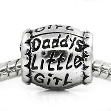 Daddy's Little Girl Daughter Gift Father Dad Charm for European Slide Bracelets