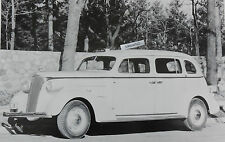 """12 By 18"""" Black & White Picture 1937 Chevrolet Long wheelbase Taxi"""