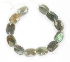 12 Labradorite Faceted Free Form Beads ap.12x15 #85130