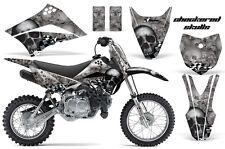KLX110 Kawasaki Graphic Kit AMR Racing Bike Decal Sticker Kawi Part 10-13 SKULL