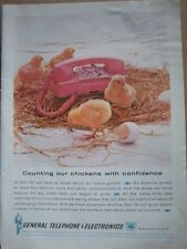 1962 PINK General Telephone Electronics Rotary Dial Ad