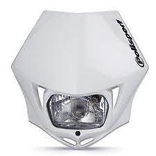 POLISPORT MMX Headlight Enduro Road Legal WHITE YZF CRF KDX CR