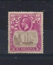 St Helena 1922-37 6d broken mainmast FU CDS