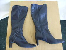 Ladies Boots - Clarkes, 5.5, soft black leather, used/worn/creased/scuffs - 3076