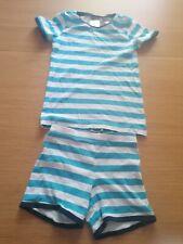 H & M Blue/White Stripe Summer Pyjamas - Size 6 - 8 Years