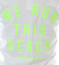 NWT Victoria's Secret Sleeveless Tank Top Muscle WE RUN THIS BEACH M Medium