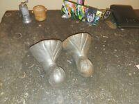 2  Clawfoot Tub Eagle w/ Talons Feet Cast Iron Silver Original Finish Antique