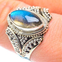 Labradorite 925 Sterling Silver Ring Size 9.75 Ana Co Jewelry R52057F