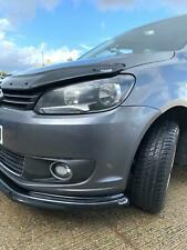 VW CADDY MK3 10-14 LOWER ABS GLOSS BLACK SPLITTER SPOILER BUMPER LIP ADD ON