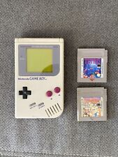 Nintendo Gameboy Konsole Klassik Grau mit Spiele Tetris Mario