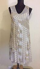 TSUMORI CHISATO DRESS M CREAM AND TAN LAYERED WITH MATCHING SLIP *M?