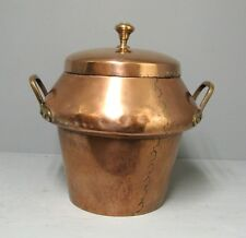 Chaudron- marnite en cuivre 18e-19e. Old kitchen copper