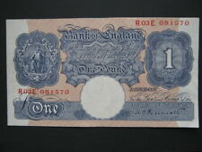Bank of England £1 note Peppiatt blue R03E B249