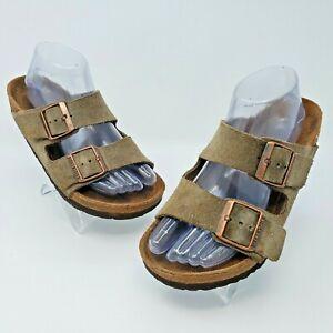 Birkenstock Arizona Soft Footbed Brown Suede Leather Sandal Size 37 US L6 M4 Reg