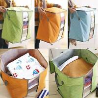 Poldable-Compact Clothing Quilt Storage Bag Blanket Closet Sweater Organizer Box