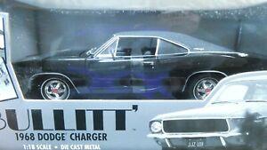American Muscle ERTL Bullitt Steve McQueen 1968 Dodge Charger Black 1/18 MIB