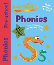 PHONICS - GOLD STARS PRE-SCHOOL WORK BOOK AND POSTER