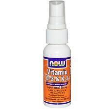 Vitamin D3 & K2 Liposomal Spray - 60ml by Now Foods - Supports Bone Health