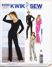 KWIK SEW SEWING PATTERN 3052 MISSES SZ 8-22 DANCEWEAR, CATSUIT, BODYSUIT COSTUME