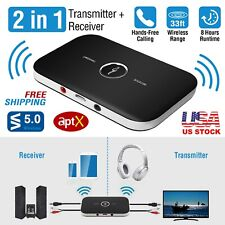 2 in1 3.5mm Wireless AUX Audio Transmitter & Receiver Adapter A2DP Stereo Music