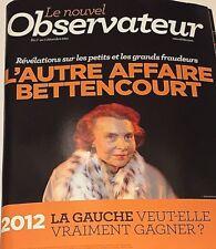 LE NOUVEL OBSERVATEUR*RARE*0712/11*L'AUTRE AFFAIRE BETTENCOURT*STANDARD & POOR'S