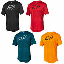 Mens FOX Cycling Jersey Mountain Bike Top MTB Racing Motocross Short Sleeve-Tops