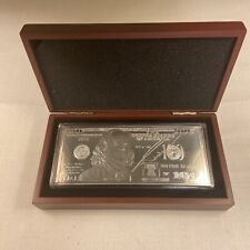 2013 -1oz Silver Proof Bar Ben Franklin $100 BILL plastic case, wood box & COA