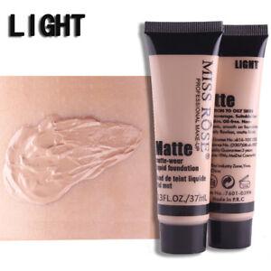 MISS ROSE Matte Liquid Foundation Smooth Makeup Base Face Cream Concealer