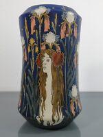 Vase,Hans Christiansen,Villeroy & Boch,Mettlach,Jugendstil,Der Tag,Frau,um1900,