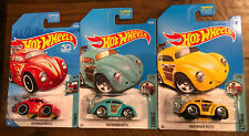 Hot Wheels - Volkswagen Beetle - Tooned 4/5 7/10 - 50th Anniversary 3 different