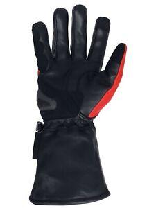 Motorcycle Gauntlet Gloves - K EVLAR - Premium Leather Touring TOUCHSCREEN