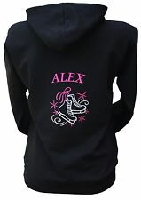 Personalised Ice Figure Skating Hoodie Hoody Sizes 5-13 Years Contact for Larger