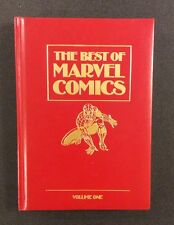 BEST OF MARVEL COMICS #1 Leather HC Spider-Man 1ST BLACK PANTHER 1987 Superhero