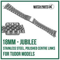 ♛ 18mm Jubilee Stainless Steel Bracelet Watch Strap For Gents TUDOR Models ♛